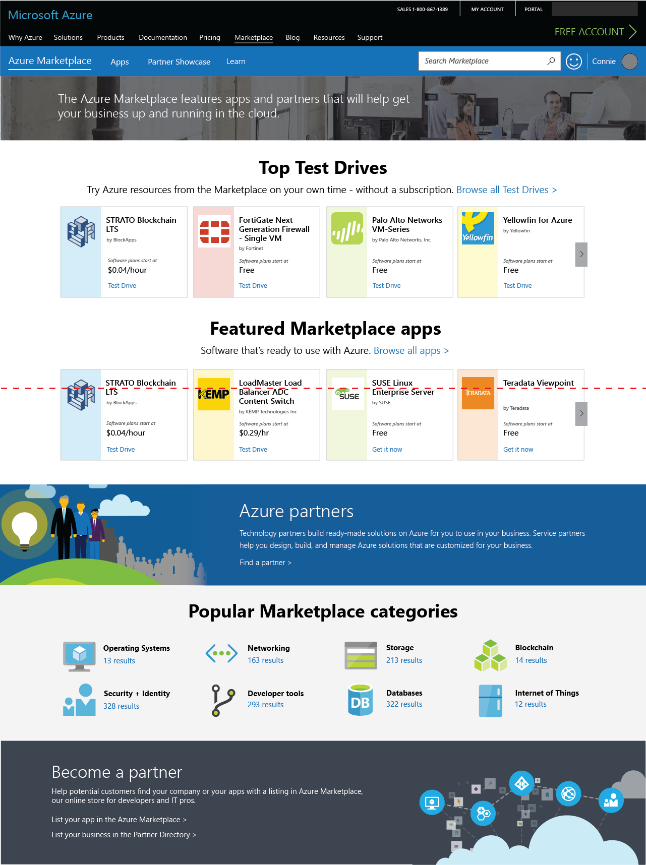 Marketplace Landing Pages